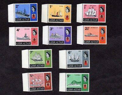 1967.QEII 'SHIPS' DEFINITIVE SET TO 1/- EXCEPT 5d STAMP.MINT NEVER HINGED.