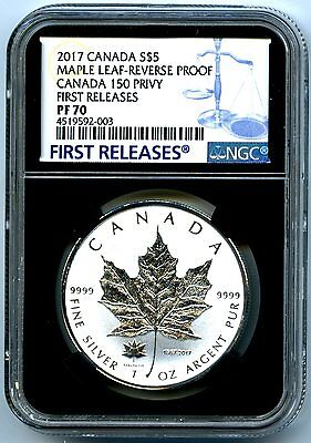 2017 $5 Canada 1Oz Silver Ngc Pf70 150 150Th Privy Reverse Proof Maple Leaf Fr