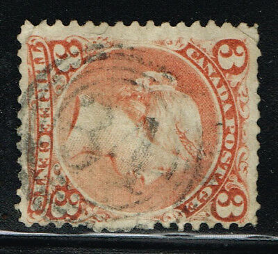 """Canada  Large Queen Fine 25 """"31"""" 4-Ring Cancel (Ocr13"""