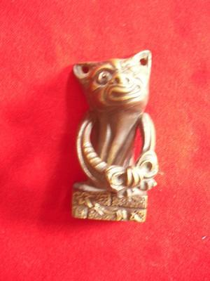 Lucky Winking Cat Solid Brass Door Knocker