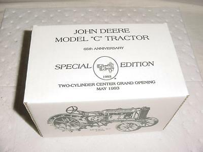 Two Cylinder Center Grand Opening 1993 Special Edition 1928 John Deere C MINT !!