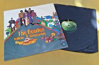 "BEATLES "" YELLOW SUBMARINE ""SUPER UK ORIG MONO no PRINTERS CREDIT RED LINE SLV"