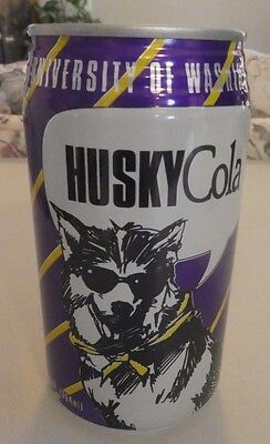 Extremely Rare University of Washington Husky Cola Collectible Can Sealed