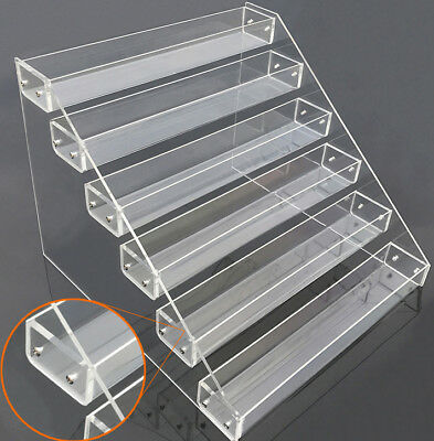 FIG-DSN: Clear Acrylic 6 Tier Display Shelf for Action Figure, Toy, Cosmetics