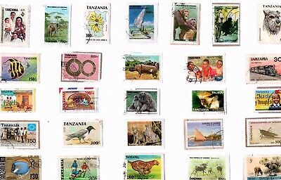 A  Fresh New Selection Of Commemorative Kiloware Stamps From Tanzania