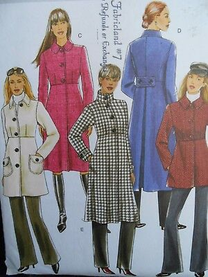 Butterick Coat Pattern B5145 Size 8 10 12 14