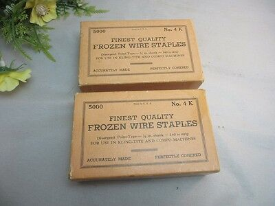 2 boxes 5000 Finest Quality Frozen Wire Staples No.4 K.Kling-tite,Compo machine