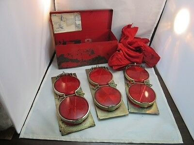 Vtg Grote 70 Reflector Flare kit in red metal box. Complete. Madison, IN