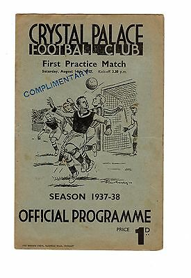 Crystal Palace Practice Match Red & Blue Stripes v Whites 14.8.1937 Friendly