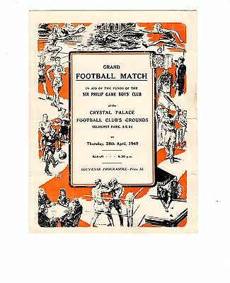 @ Crystal Palace Ronnie Rooke XI v Tommy Lawton XI 28.4.1949 Testimonial