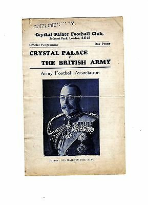 Crystal Palace v British Army 24.2.1934 Friendly