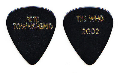 The Who Pete Townshend Black Guitar Pick - 2002 Tour