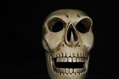 381 SKULL MEXICAN WOODEN MASK calavera wall decor mascara madera arte