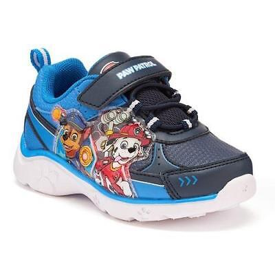 Boy's Toddler PAW PATROL Light Up Blue Athletic Casual Sneakers Shoes NEW