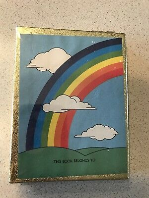 Vintage Bookplates Rainbow Clouds Antioch Bookplate Company Sealed 50 Pack