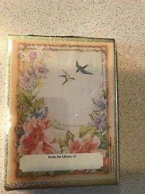 Vintage Bookplates Birds Flowers Antioch Bookplate Company Sealed 30 Pack