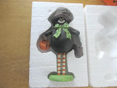 New In Box - Sandi Gore Evans For Midwest - Scaredy Cat Halloween Figure