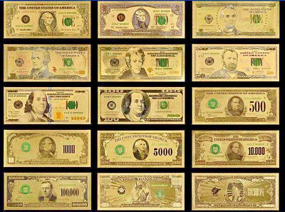 <MINT UNC. FULL SET> $1-$1B Rep.* Banknotes W/COA~STUNNINGLY Detailed W/ COLOR!.