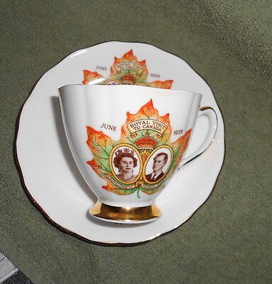 Queen Elizabeth II & Prince Philip June 1959 Royal Visit Canada Cup & Saucer Set