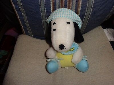 Vintage 1968 Knickerbocker  Baby Snoopy Plush Puppy Dog Peanuts Gang Charlie Bro