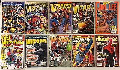 Wizard The Guide To Comics 1993-2006 / Poster Mania 2001 Magazines Lot of 10