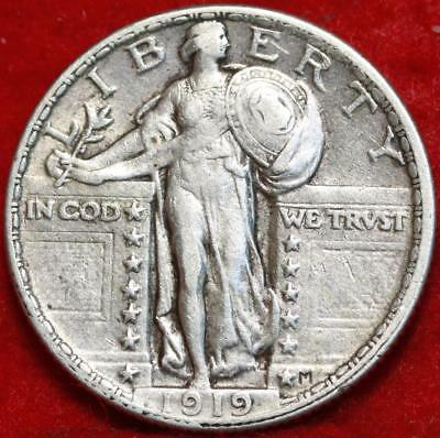 1919 Philadelphia Mint Silver Standing Liberty Quarter Free Shipping