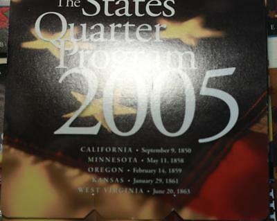 Uncirculated 2005 States Quarter Program United States Set Free Shipping