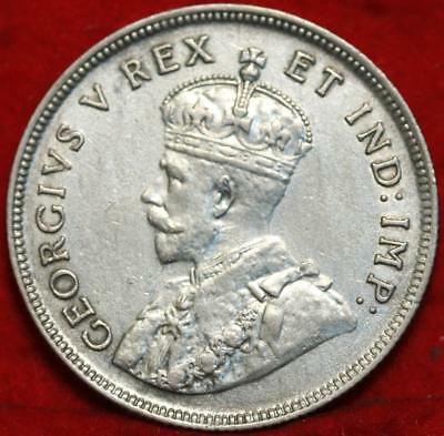 1925 East Africa 1 Shilling Silver Foreign Coin Free S/H