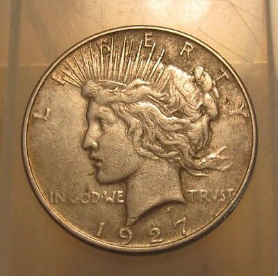 1927 S Peace Dollar - Circulated Condition - 100FR