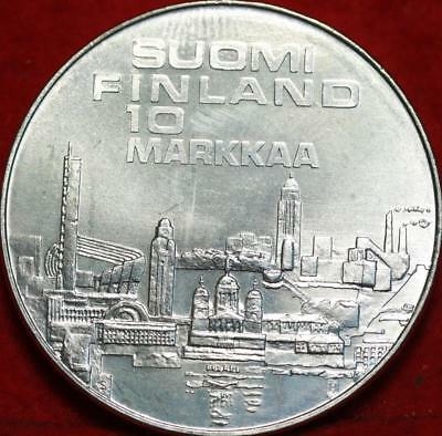 Uncirculated 1971 Finland 10 Markka Silver Foreign Coin Free S/H
