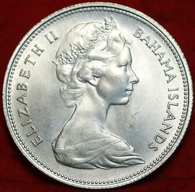Uncirculated 1966 Bahamas 50 Cents Silver Foreign Coin Free S/H