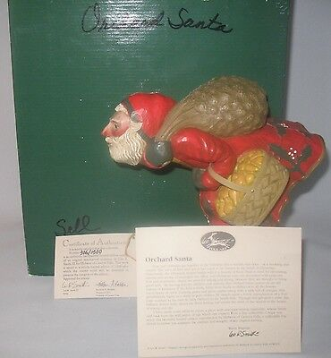 Leo Smith Folk Art Orchard Santa Number #306 Midwest COA SC Box Excellent Cond.
