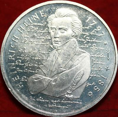 Uncirculated 1997-D Germany 10 Mark Foreign Silver Coin Free S/H