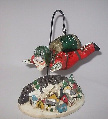 Dropping In For Christmas Santa Leo Smith Folk Art Especially For You Exc In Box