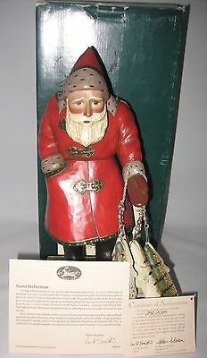 Leo Smith Fisherman Santa Midwest #298 COA Story Card Box Exc Cond Signed by LEO