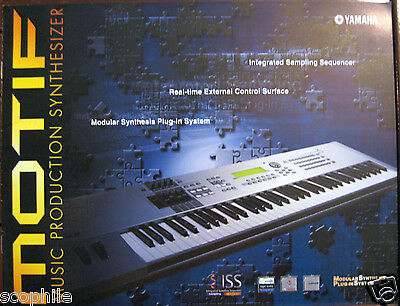 Yamaha MOTIF Keyboard Workstation Synthesizer Collectible 12 Page Color Brochure
