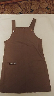 As Is Girls Sz 16 1/2 Official Girl Scouts Brown Jumper