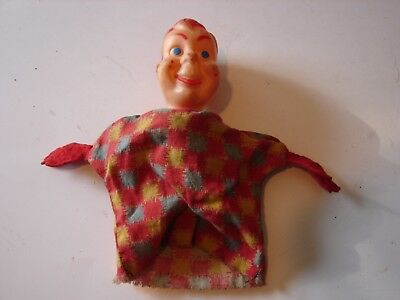 Vintage Howdy Doody Hand Puppet Vinyl Head Pretend Play Tv Character Doll