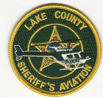 Air Unit LAKE County Sheriff State of Florida FL Aviation Shoulder Patch
