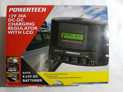 Powertech 12V 20A Charging Regulator With Lcd - Brand New
