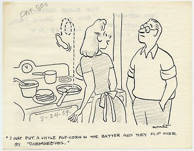 JOHN NORMENT Original Magazine Captioned Cartoon ART, 1959
