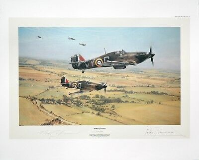 Robert Taylor MORAL SUPPORT WW II LE Aviation Art Print SIGNED by PETER TOWNSEND