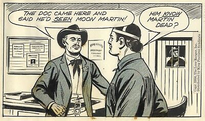 Charles Flanders THE LONE RANGER Original Daily Comic Strip ART with TONTO, 1958