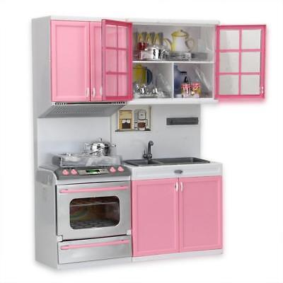 Stainless Steel Mini Kitchen Play Set Kids Baby Girl Pretend Cooking