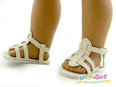 Doll Shoes made for 18'' American Girl Beige Sandals wulang55