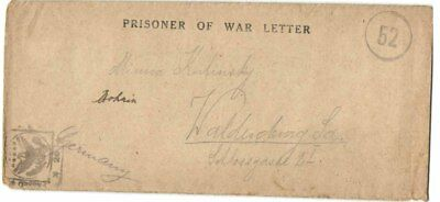 German WWI POW Letter US AEF Camp #73 American Expedition Forces 1919.