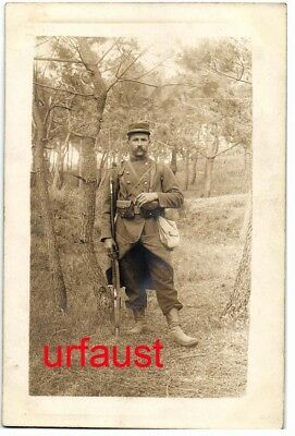 French WWI Soldier Francois Gerard Go To War Studio Photo