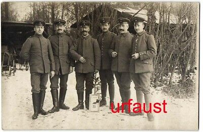German WWI Soldiers Christmas 1917 Photo