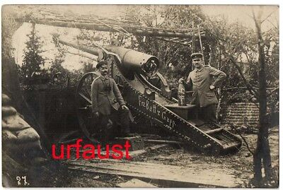 German WWI French Booty 120mm Gun M1878 Shell to Ypres Photo