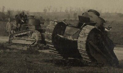French WWI Renault Tanks in Belgium Photo